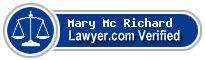 Mary Donald Mc Richard  Lawyer Badge