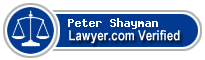 Peter J. Shayman  Lawyer Badge