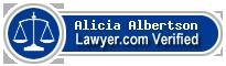 Alicia Kathleen Albertson  Lawyer Badge