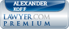 Alexander Koff  Lawyer Badge