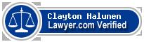 Clayton Halunen  Lawyer Badge