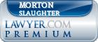 Morton Brian Slaughter  Lawyer Badge