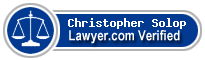 Christopher Solop  Lawyer Badge