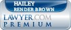Hailey Breanne Render Brown  Lawyer Badge