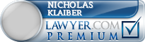 Nicholas Richard Klaiber  Lawyer Badge