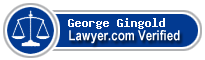 George N Gingold  Lawyer Badge