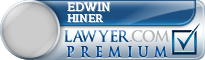 Edwin A Hiner  Lawyer Badge