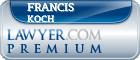 Francis G Koch  Lawyer Badge