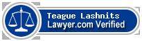 Teague Richard Lashnits  Lawyer Badge