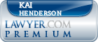 Kai Michael Henderson  Lawyer Badge