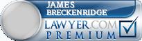 James Albert Breckenridge  Lawyer Badge