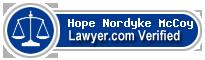 Hope Nordyke McCoy  Lawyer Badge