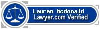 Lauren Elizabeth Mcdonald  Lawyer Badge