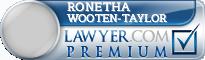 Ronetha Ann Wooten-Taylor  Lawyer Badge