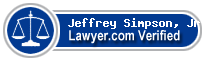 Jeffrey Simpson, Jr  Lawyer Badge