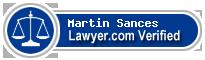 Martin R. Sances  Lawyer Badge