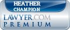 Heather L. Champion  Lawyer Badge