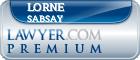 Lorne Eric Sabsay  Lawyer Badge