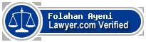 Folahan Ayeni  Lawyer Badge