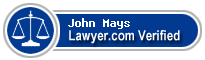 John Alfred Mays  Lawyer Badge