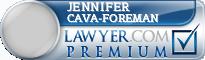 Jennifer Lee Cava-Foreman  Lawyer Badge