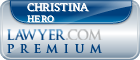 Christina E. Hero  Lawyer Badge