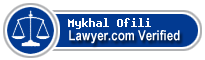 Mykhal N. Ofili  Lawyer Badge