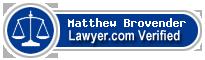 Matthew Lloyd Brovender  Lawyer Badge
