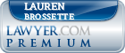 Lauren Diane Brossette  Lawyer Badge