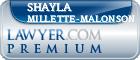 Shayla Paige Millette-Malonson  Lawyer Badge