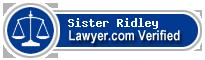 Sister Joan Ridley  Lawyer Badge
