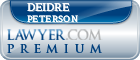 Deidre K. Peterson  Lawyer Badge