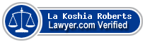 La Koshia Reconda Roberts  Lawyer Badge