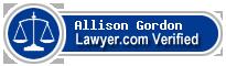 Allison Deborah Gordon  Lawyer Badge