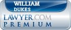 William James Dukes  Lawyer Badge