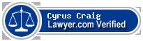 Cyrus York Craig  Lawyer Badge
