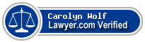 Carolyn A. Wolf  Lawyer Badge
