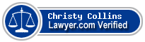 Christy Collins  Lawyer Badge