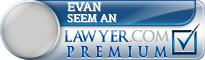 Evan J. Seem An  Lawyer Badge