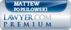 Mattew D. Popsilowski  Lawyer Badge
