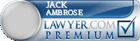 Jack E. Ambrose  Lawyer Badge