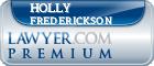 Holly Frederickson  Lawyer Badge