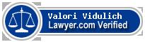 Valori Eve Vidulich  Lawyer Badge