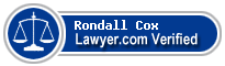 Rondall T Cox  Lawyer Badge
