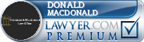 Donald J. MacDonald  Lawyer Badge