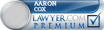 Aaron Cox  Lawyer Badge