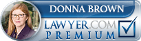 Donna Jean Brown  Lawyer Badge