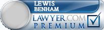 Lewis Benham  Lawyer Badge