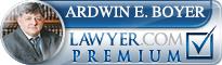 Ardwin E Boyer  Lawyer Badge