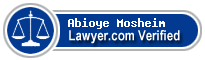 Abioye Mosheim  Lawyer Badge